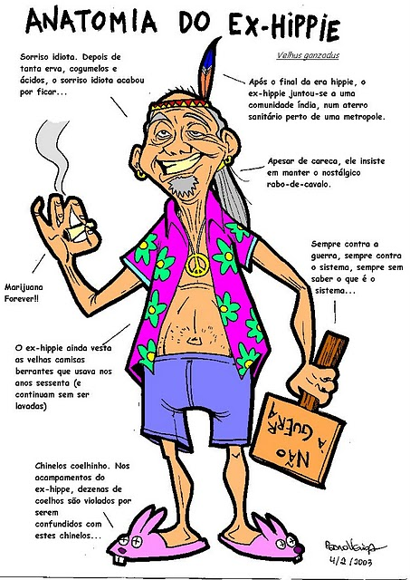 Cartoons - Anatomia do ex-hippie